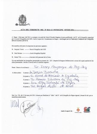 Veredicte  IV Ral.li fotogràfic Sitges 2014